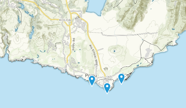 Koloa, Hawaii Map