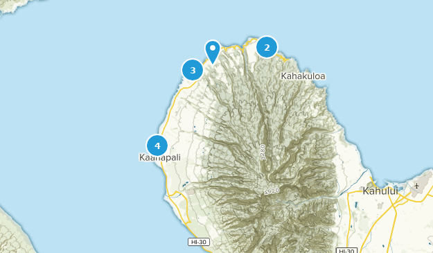 Lahaina, Hawaii Map