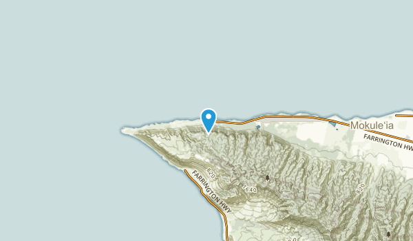 Mokulē'ia Beach Colony, Hawaii Map