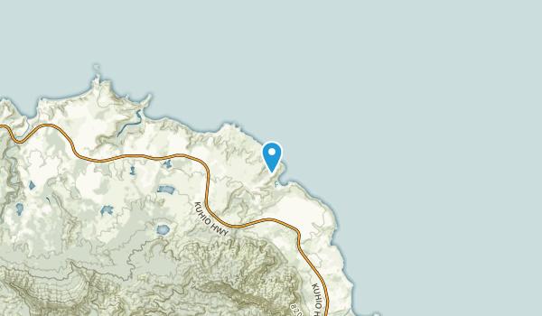 Moloaa, Hawaii Map