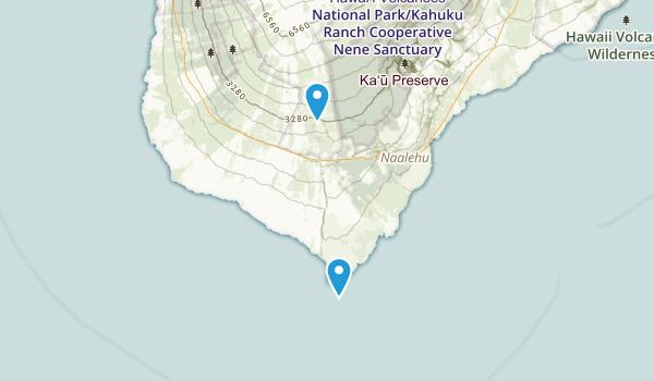 Naalehu, Hawaii Map