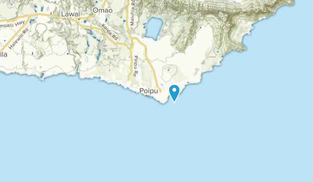 Poipu, Hawaii Map