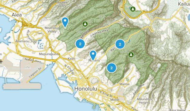 Urban Honolulu, Hawaii Map