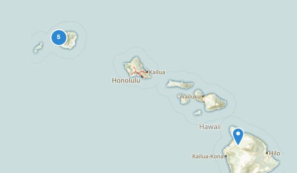 trail locations for Waimea, Hawaii