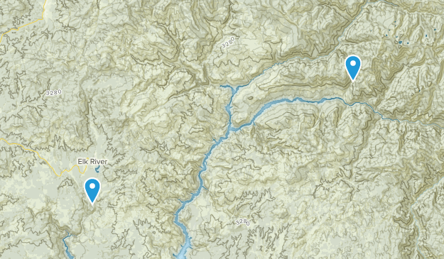 Elk River, Idaho Map