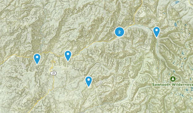 Lowman, Idaho Map