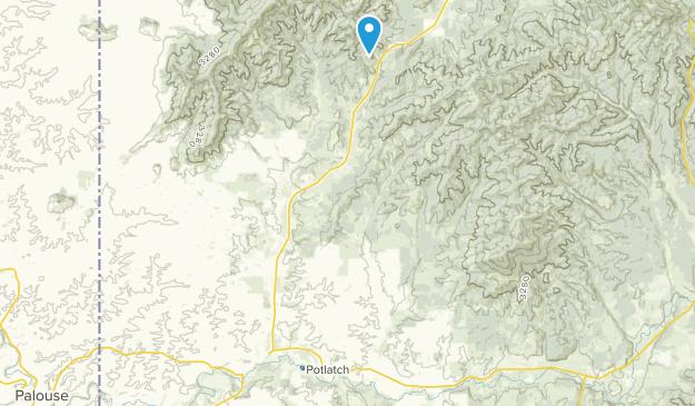 Potlatch, Idaho Map