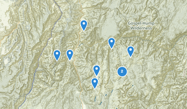 trail locations for Riggins, Idaho