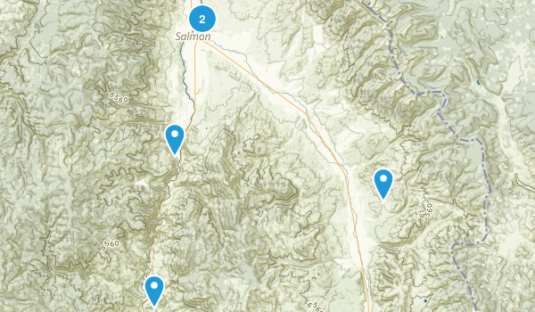 Salmon, Idaho Map