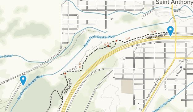St. Anthony, Idaho Map