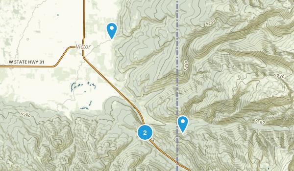 Victor, Idaho Map