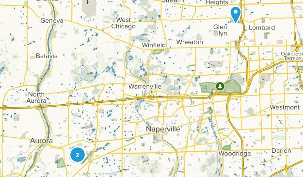 Aurora, Illinois Map