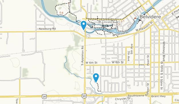 Belvidere, Illinois Map