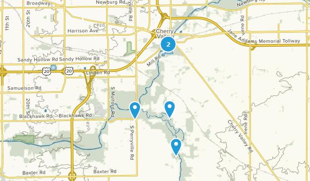 Cherry Valley, Illinois Map