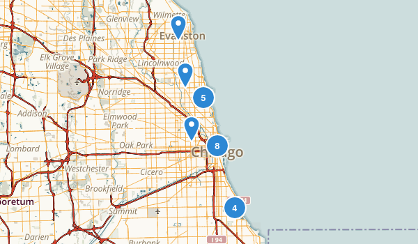 Chicago, Illinois Map