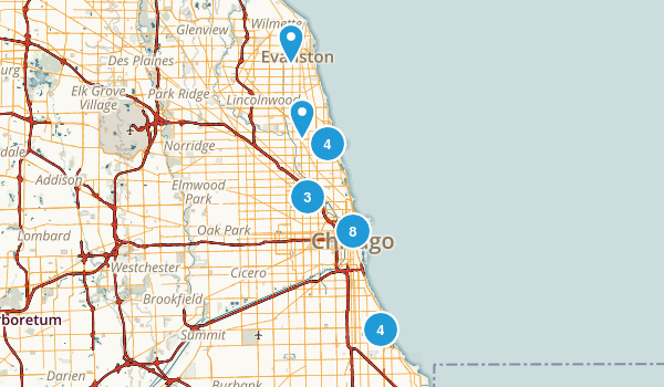 Best Trails Near Chicago Illinois Photos Reviews - Us map chicago illinois
