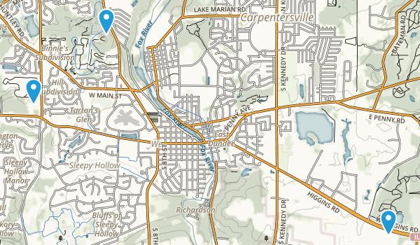Dundee, Illinois Map