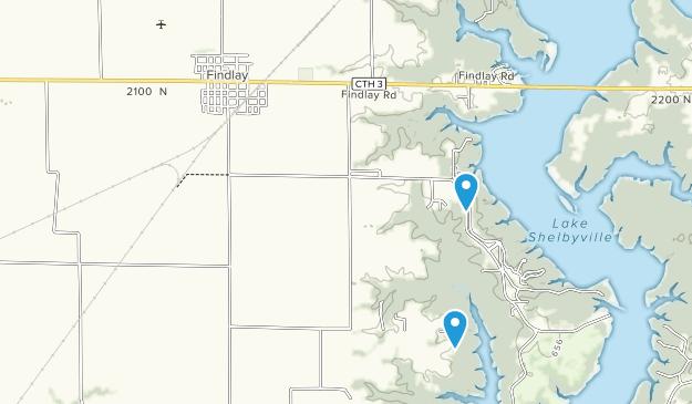 Findlay, Illinois Map