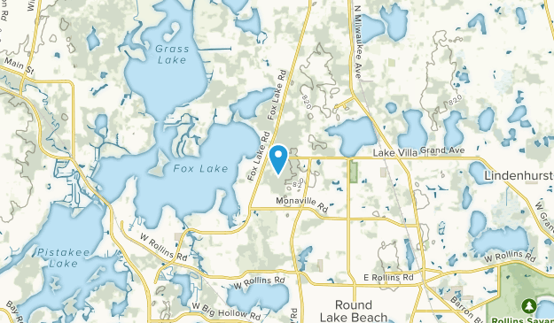 Fox Lake Hills, Illinois Map