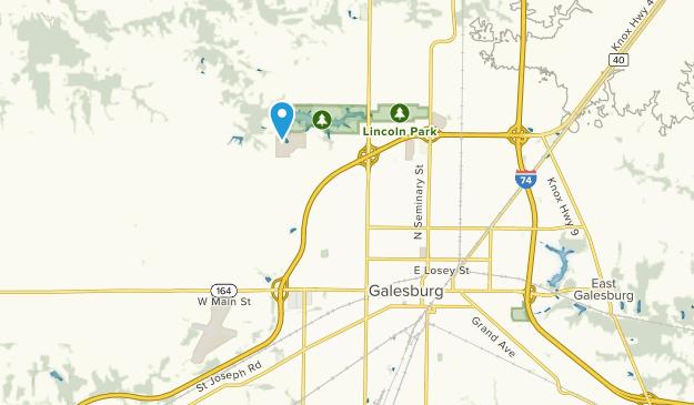 Galesburg, Illinois Map