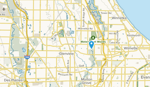 Glenview, Illinois Map