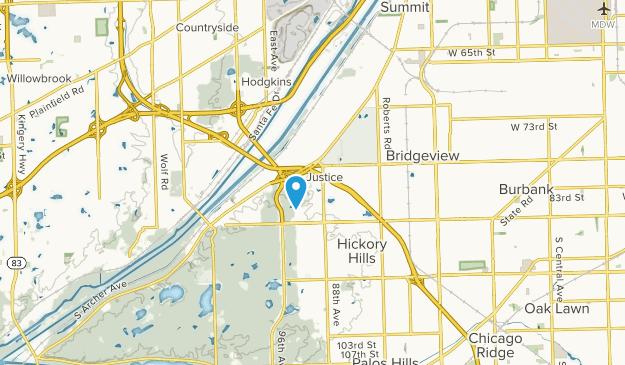 Justice, Illinois Map