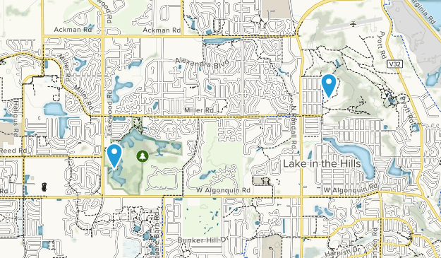 Lake in the Hills, Illinois Map