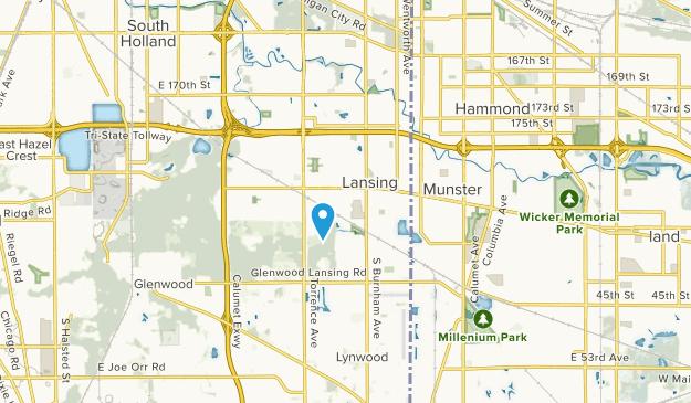 Lansing, Illinois Map