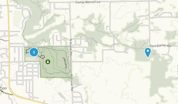Mount Zion, Illinois Map