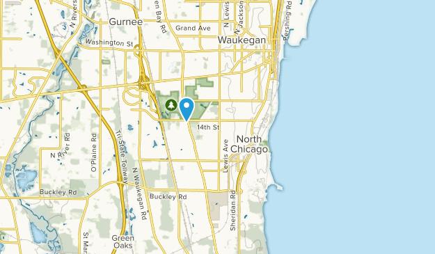 North Chicago, Illinois Map