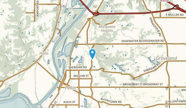 North Pekin, Illinois Map