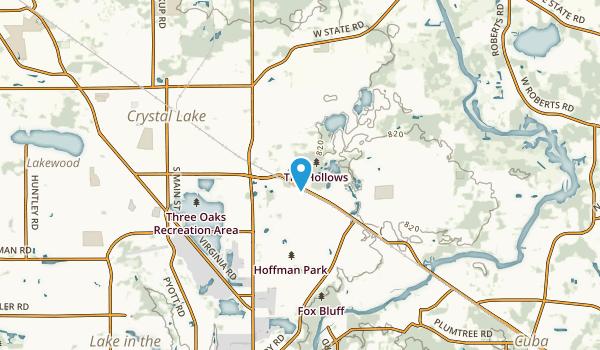 Oakbrook Estates Mobile Home Park, Illinois Map