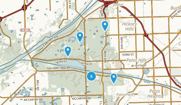 Palos, Illinois Map