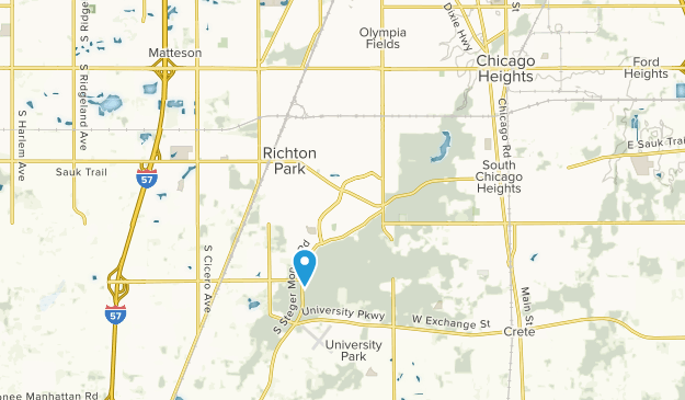 Park Forest, Illinois Map