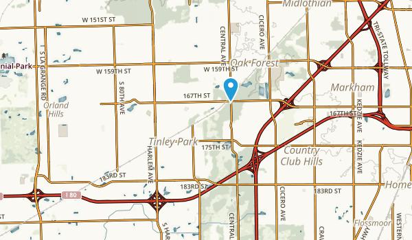 Tinley Park, Illinois Map