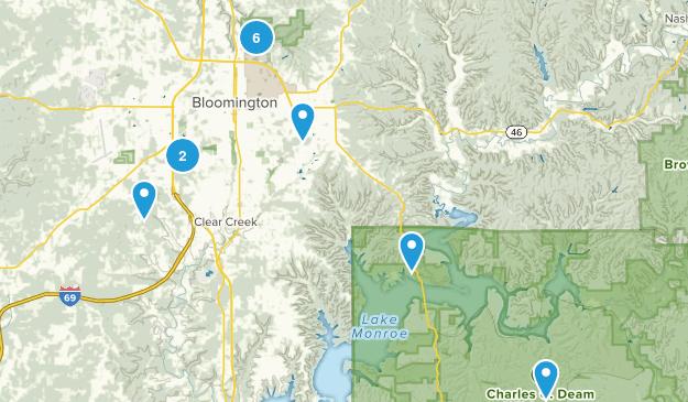 Bloomington, Indiana Map