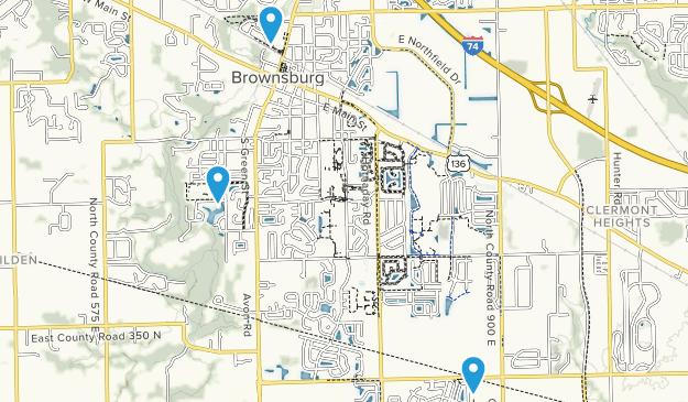 Brownsburg, Indiana Map