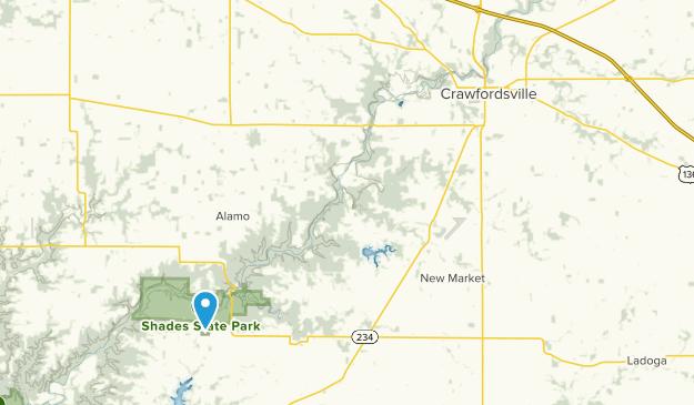 Crawfordsville, Indiana Map
