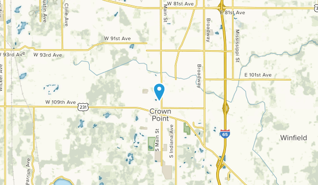 Crown Point, Indiana Map