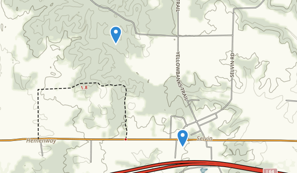 trail locations for Dale, Indiana