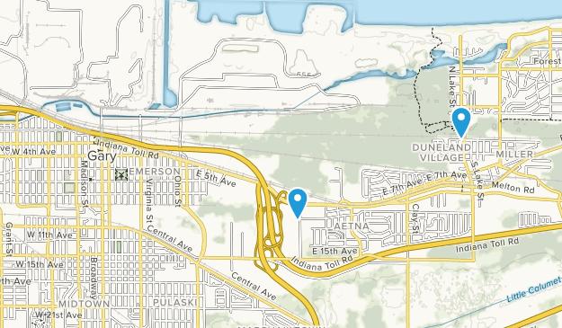 Gary, Indiana Map