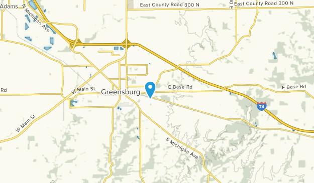 Greensburg, Indiana Map