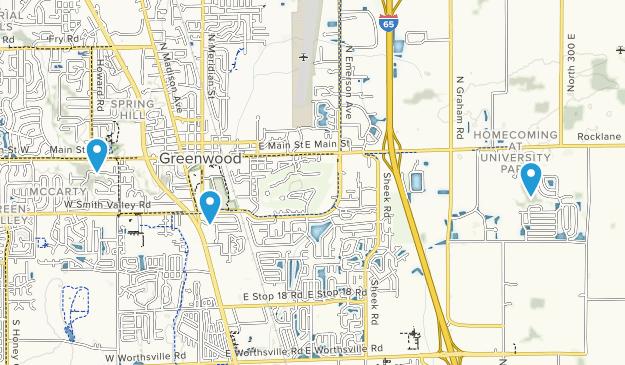 Greenwood, Indiana Map