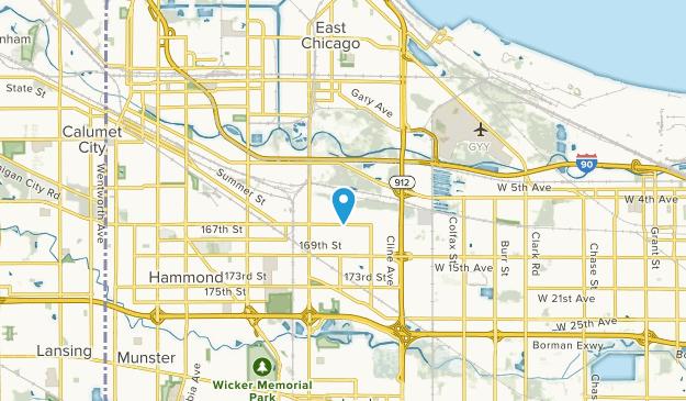 Hammond, Indiana Map