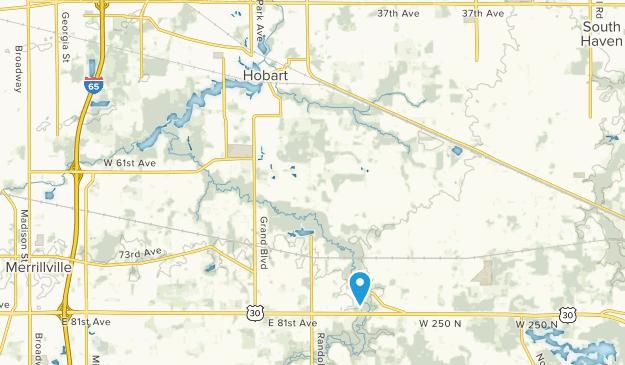 Hobart, Indiana Map