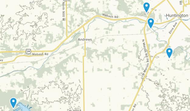 Huntington, Indiana Map
