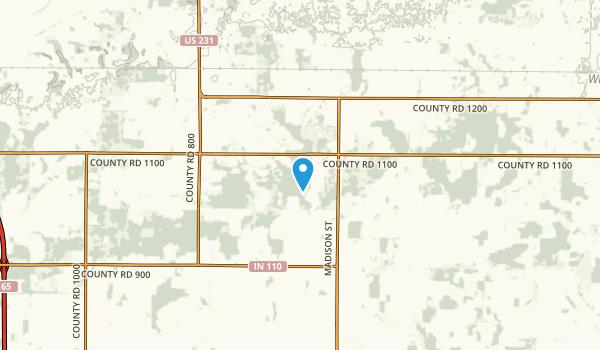Keener, Indiana Map