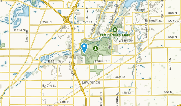 Lawrence, Indiana Map