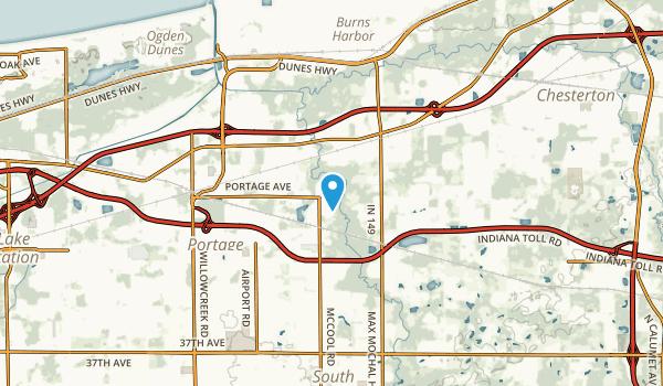 McCool, Indiana Map