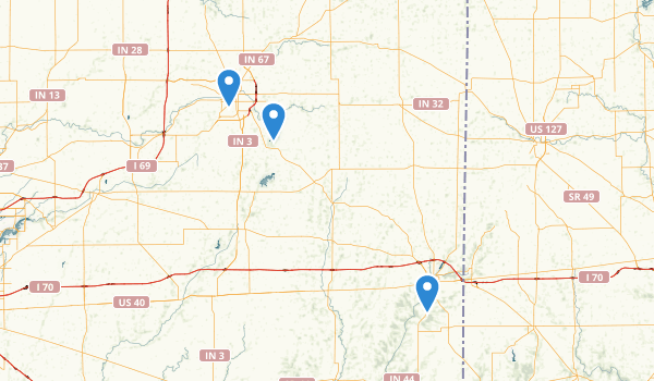 trail locations for Muncie, Indiana